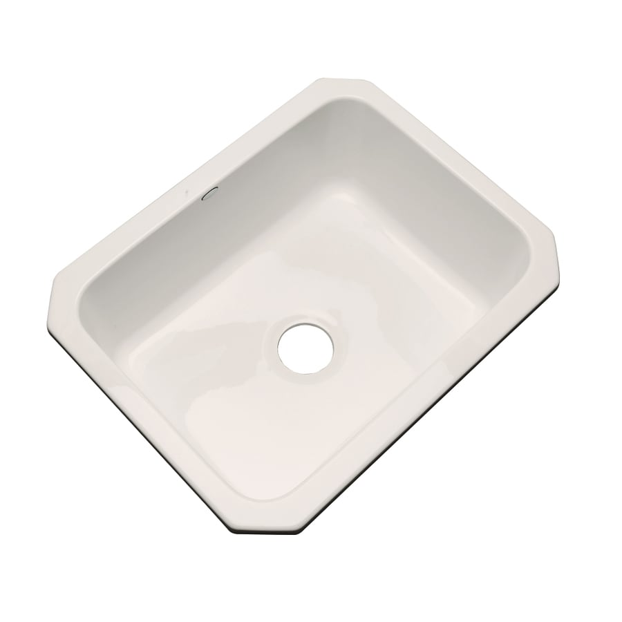 Dekor Master 18.25-in x 25-in Natural Single-Basin Acrylic Undermount Residential Kitchen Sink