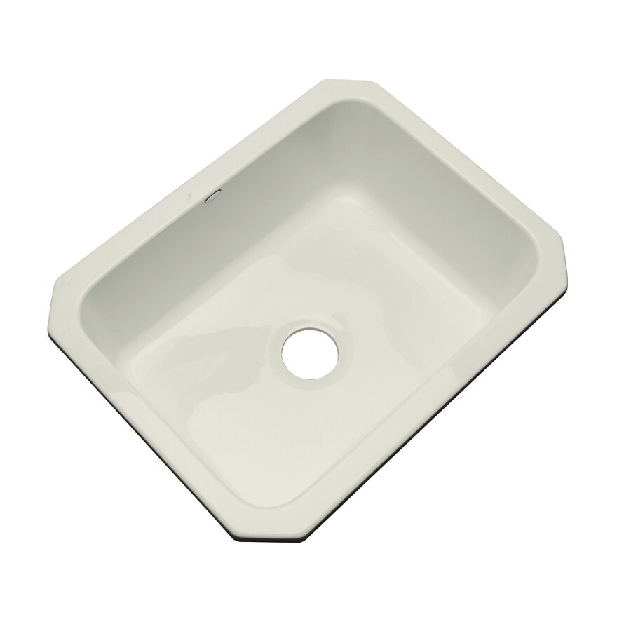 Dekor Master 21.5-in x 24.5-in Tender Gray Single-Basin Acrylic Undermount Residential Kitchen Sink