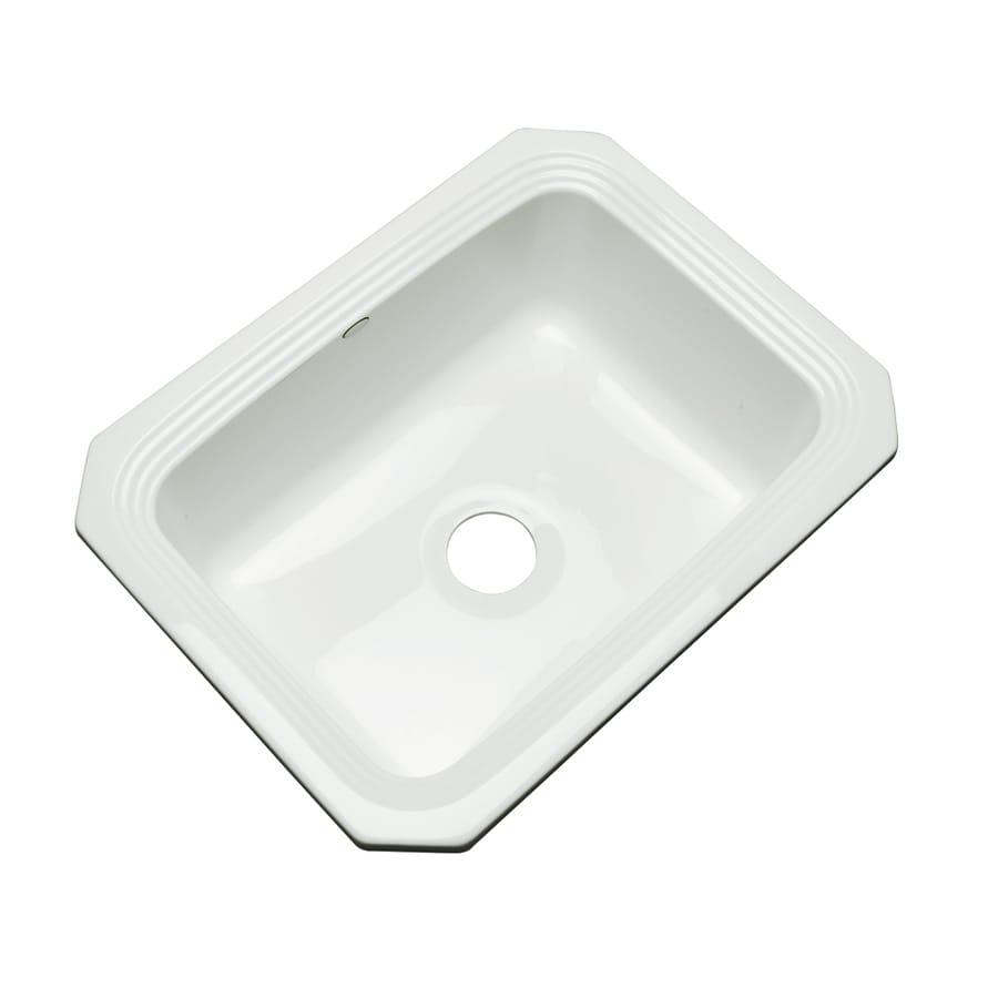 Dekor Master 19-in x 25-in White Single-Basin Acrylic Undermount Residential Kitchen Sink