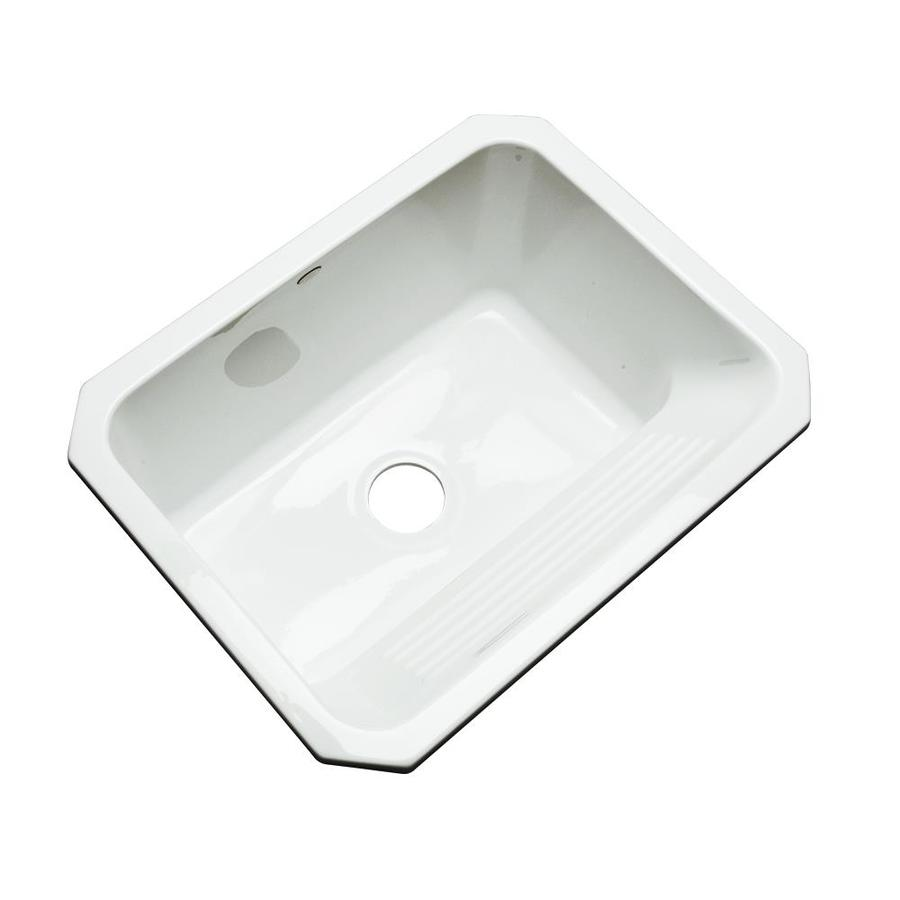 Dekor 19-in x 25-in White Undermount Acrylic Laundry Utility Sink
