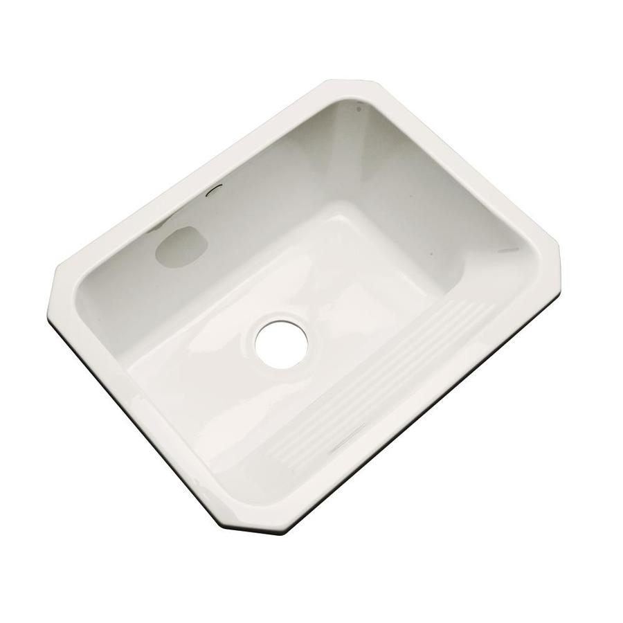 Shop Dekor 19 In X 25 In Bone Undermount Acrylic Laundry Utility Sink At
