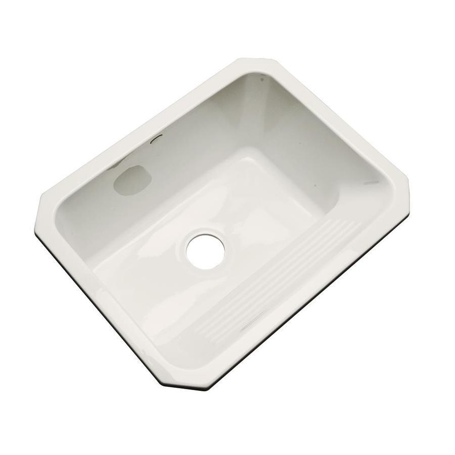 Dekor 19-in x 25-in Almond Undermount Acrylic Laundry Utility Sink