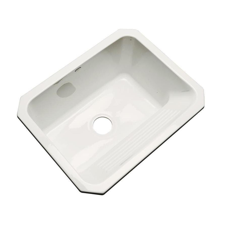 Dekor 19-in x 25-in Biscuit Undermount Acrylic Laundry Utility Sink