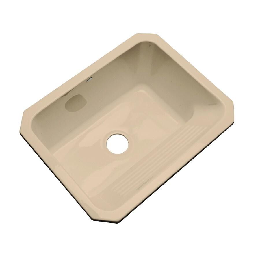 Dekor 19-in x 25-in Chamois Undermount Acrylic Laundry Utility Sink