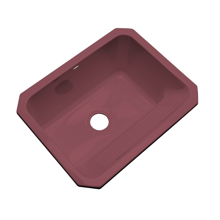 Dekor 19-in x 25-in Raspberry Puree Undermount Acrylic Laundry Utility Sink