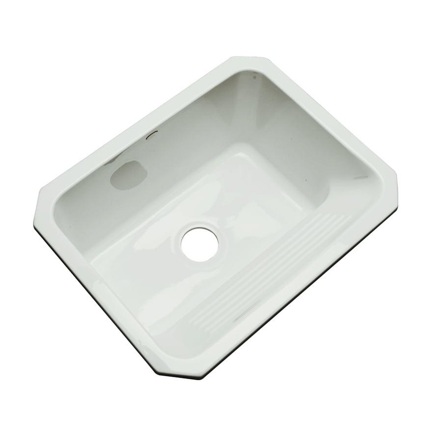 Dekor 19-in x 25-in Ice Gray Undermount Acrylic Laundry Utility Sink