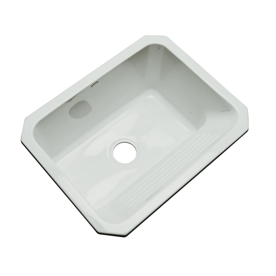 Dekor 19-in x 25-in Sterling Silver Undermount Acrylic Laundry Utility Sink