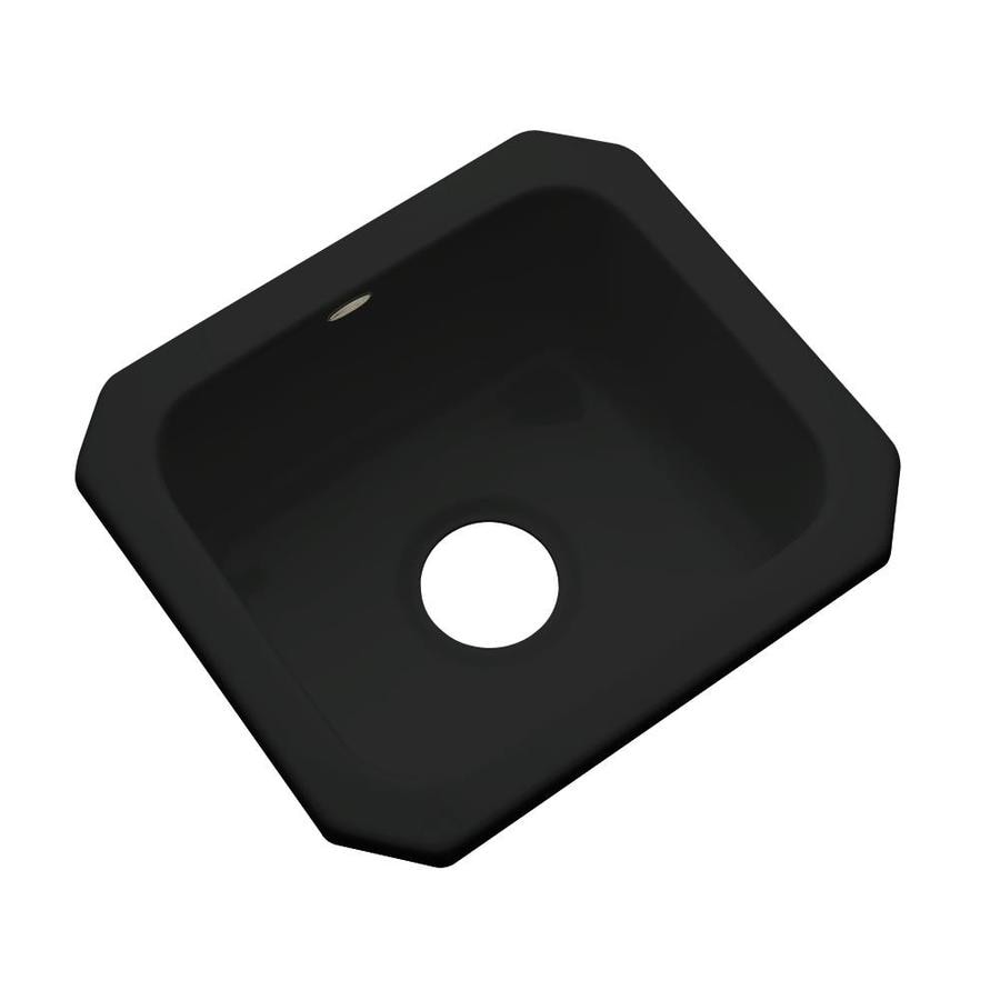 Dekor Black Acrylic Undermount Residential Bar Sink
