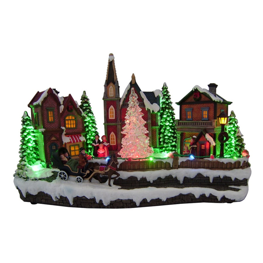 Shop Holiday Living Christmas Village Scene with Rotating ...