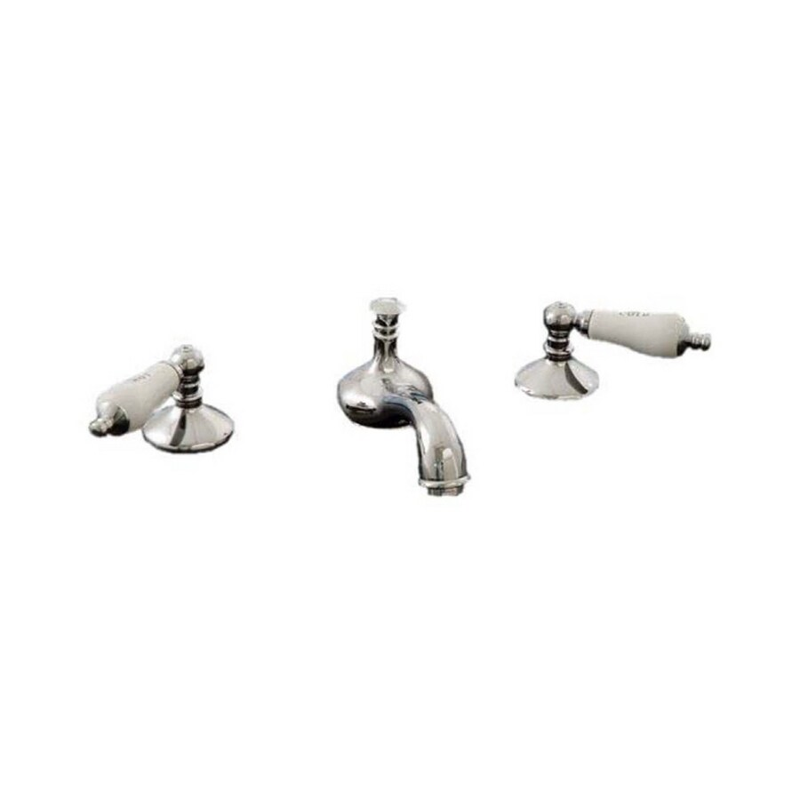 Sign of the Crab Strom Plumbing Polished Chrome 2-Handle Widespread Bathroom Sink Faucet (Drain Included)