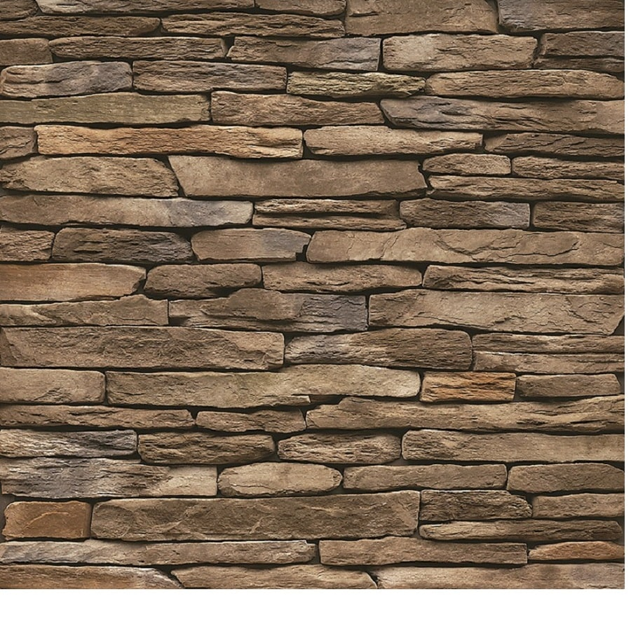 Shop stonecraft 12 sq ft multicolor ledge stone veneer at for Stonecraft fireplaces