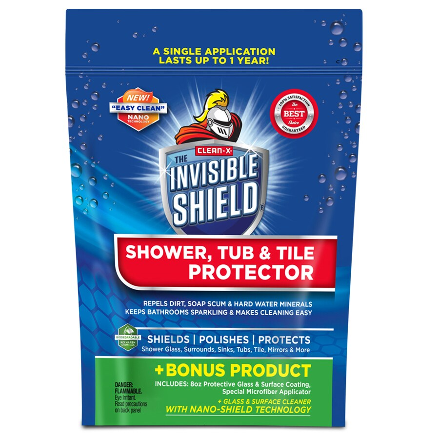Clean-X Invisible Shield Tile Protector Kit 10-oz Shower and Bathtub Cleaner