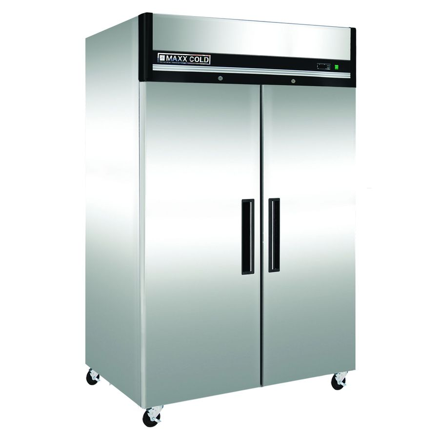 Maxx Cold 49-cu ft 2-Door Reach-In Commercial Refrigerator (Stainless Steel)