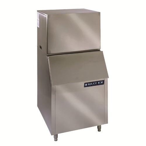 Maxx Ice 452 Lb Drop Down Door Freestanding Commercial Bullet Ice Maker Stainless Steel In The Ice Makers Department At Lowes Com