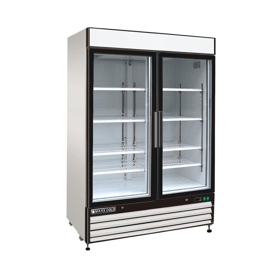 Commercial Black Glass Fridge