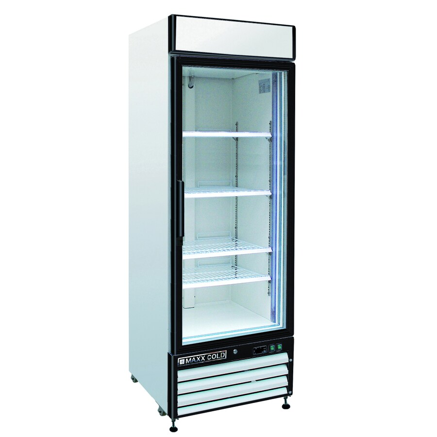 Maxx Cold 12-cu ft 1-Door Merchandiser Commercial Refrigerator (White)