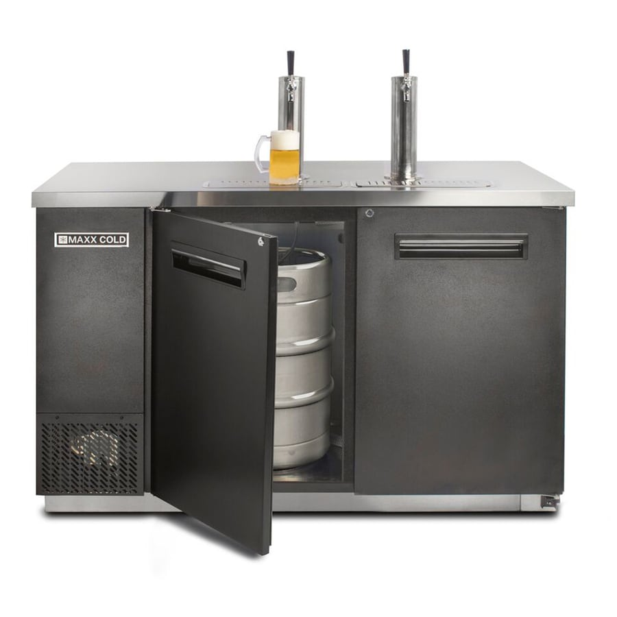 Maxx Cold Half-Barrel Keg Black Manual Built-In/Freestanding Commercial Kegerator