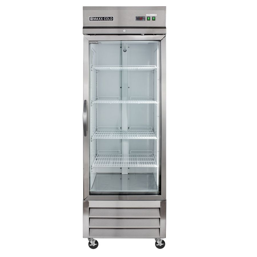 Maxx Cold 23-cu ft 1-Door Merchandiser Commercial Refrigerator (Stainless/ Glass