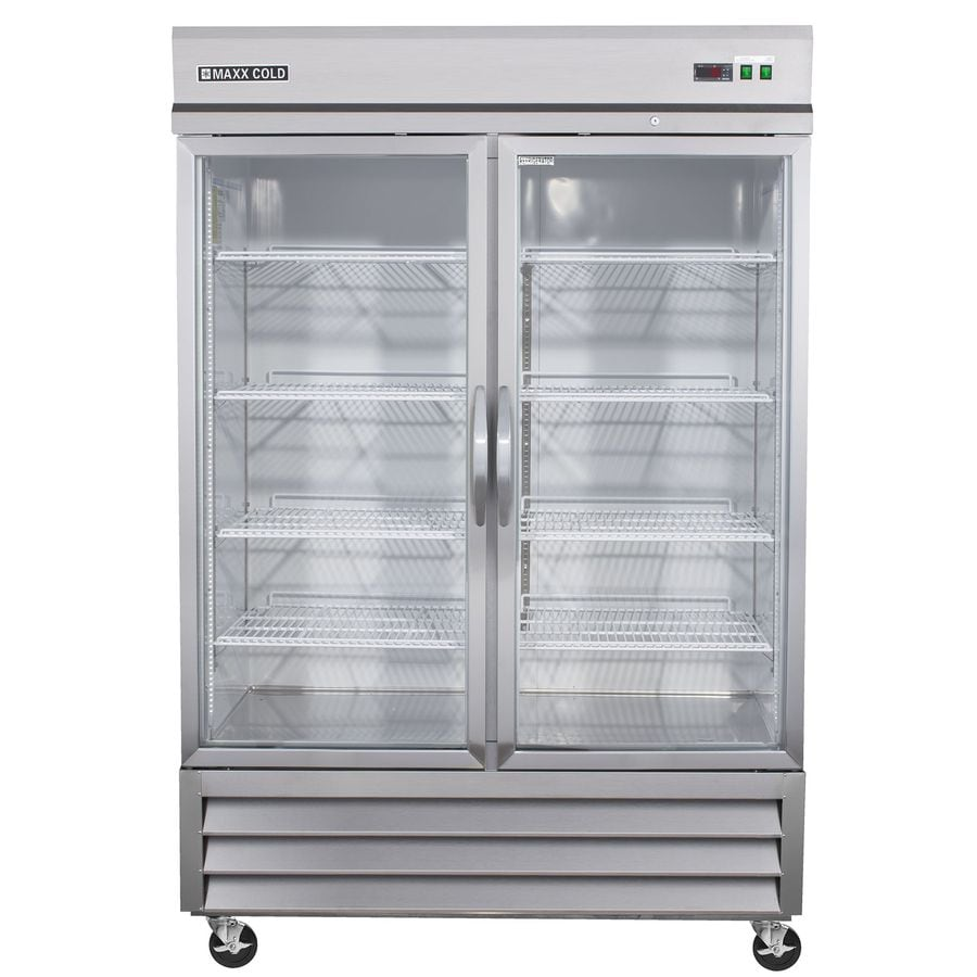 Maxx Cold 48-cu ft 2-Door Freezerless Freezerless Commercial Refrigerator (Stainless/Glass)