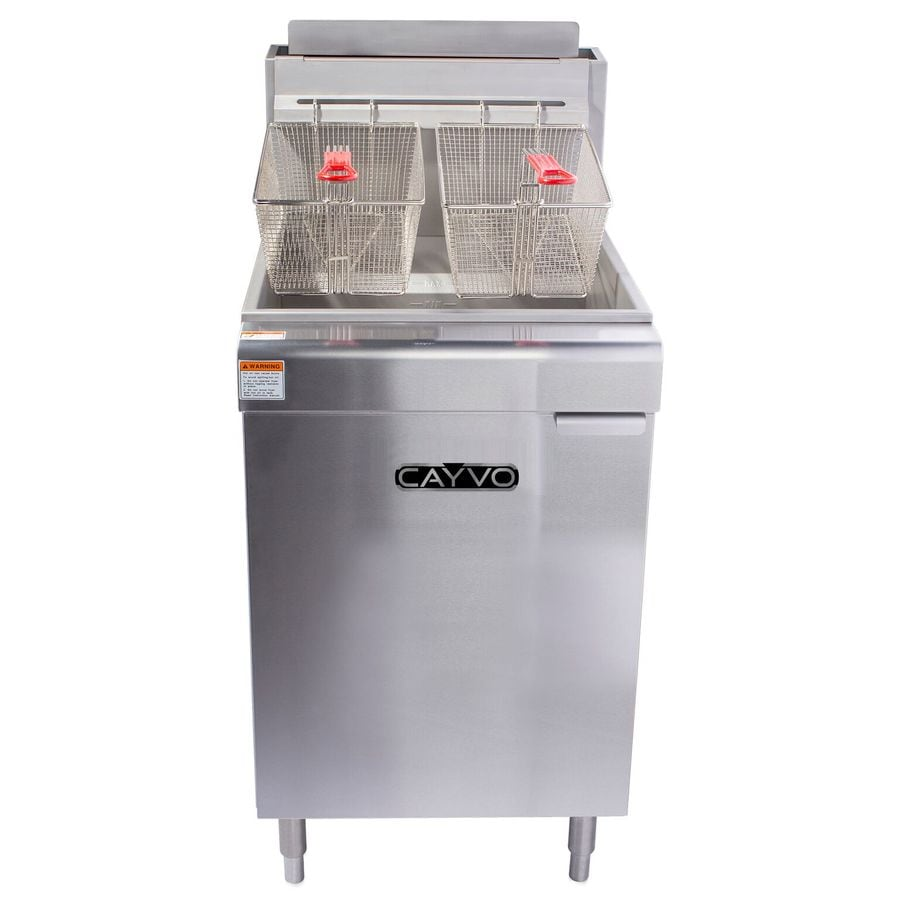Cayvo 70 Lb 2 Basket 150 000 Btu Commercial Deep Fryer At