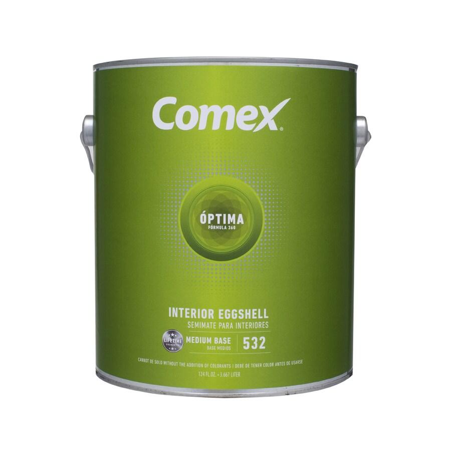 Comex White (Medium Base) Eggshell Latex Interior Paint (Actual Net Contents: 124-fl oz)