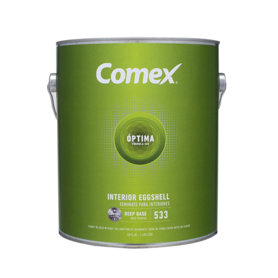 Comex Gallon Size Container Interior Eggshell Tintable White (Deep Base) Latex-Base Paint (Actual Net Contents: 120-fl oz)