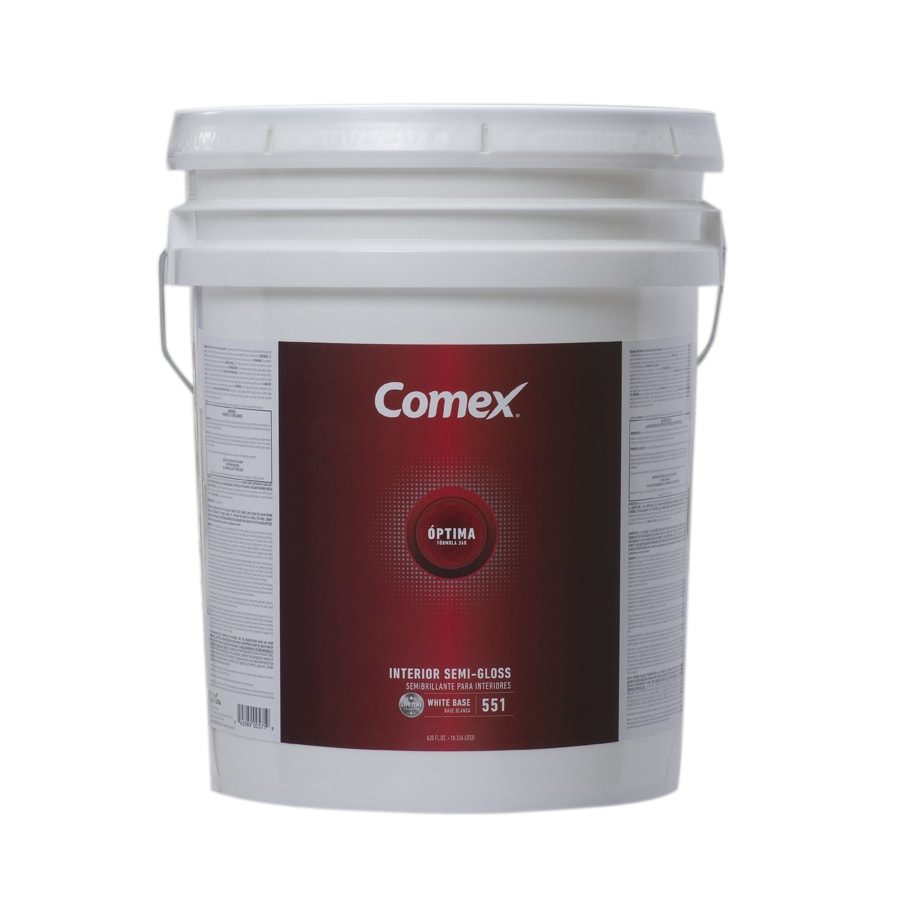 Comex White (White Base) Semi-Gloss Latex Interior Paint (Actual Net Contents: 620-fl oz)