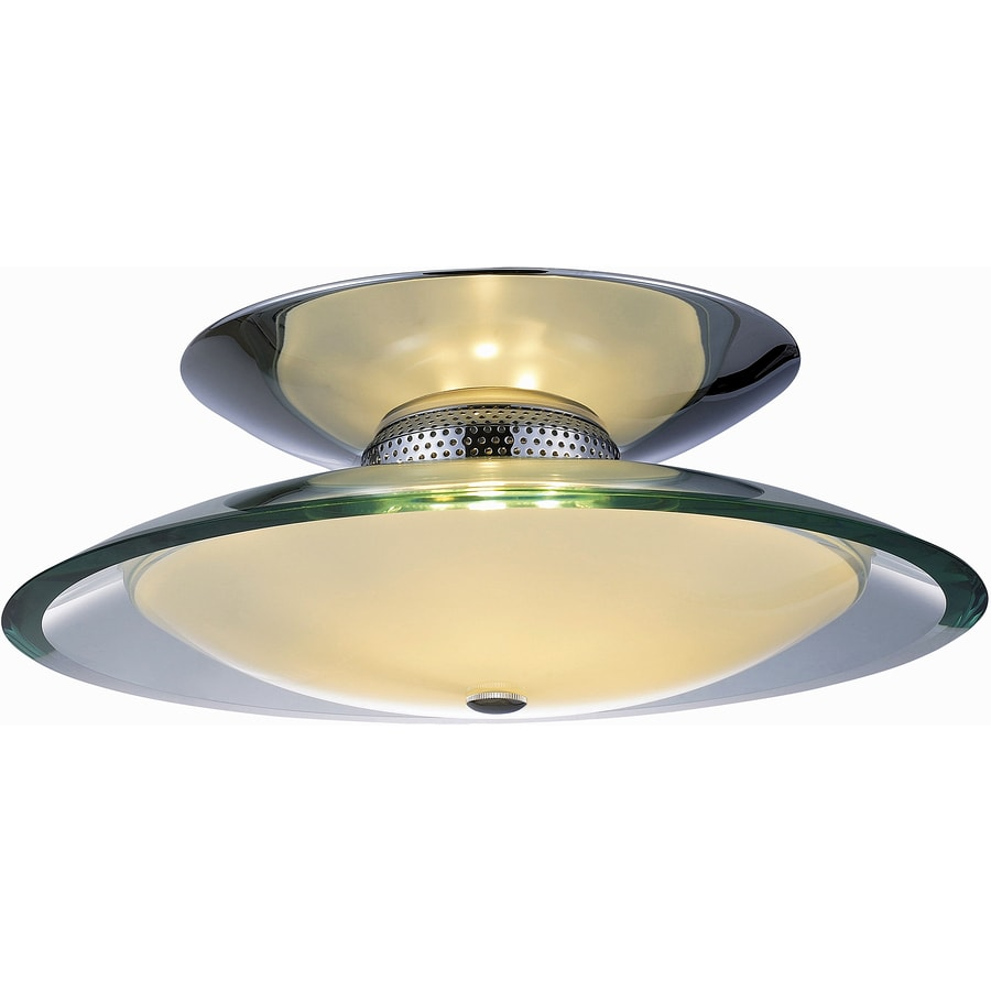 Pyramid Creations 16-in W Polished Chrome Standard Flush Mount Light