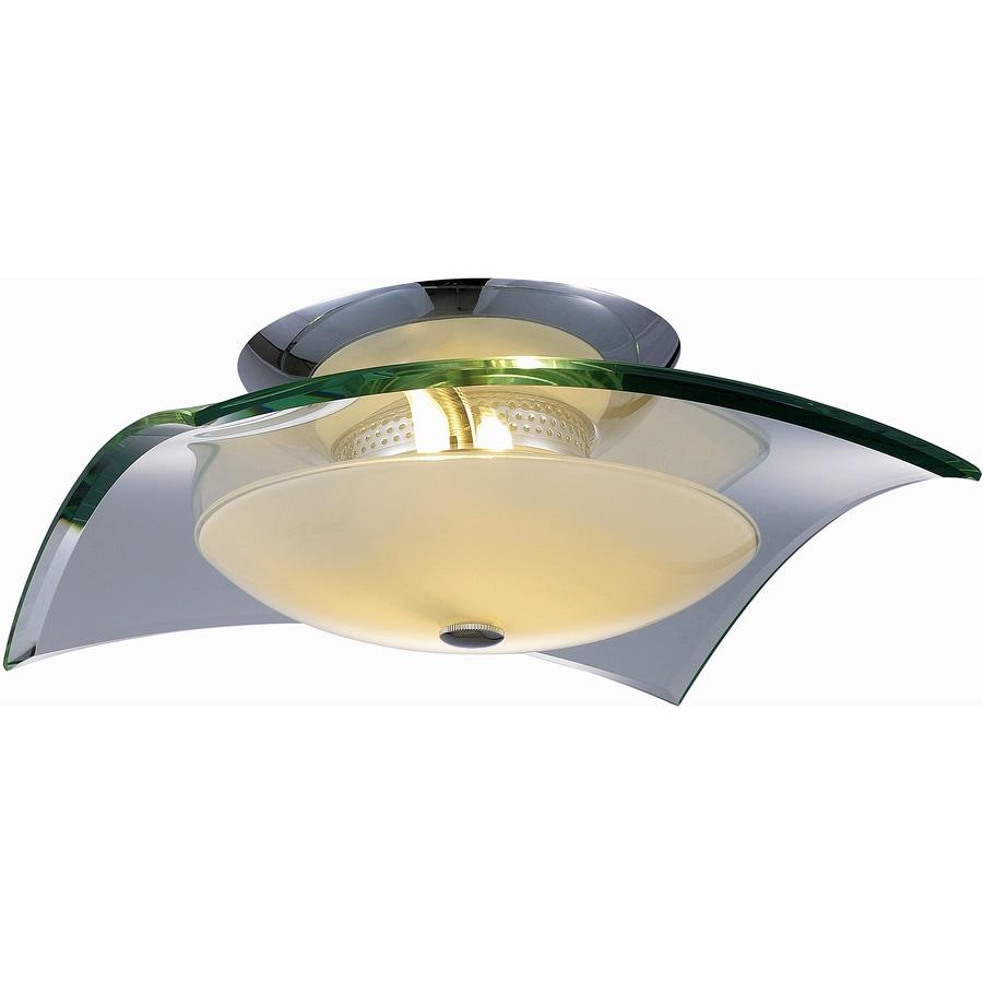 Pyramid Creations 16-in W Polished Chrome Flush Mount Light