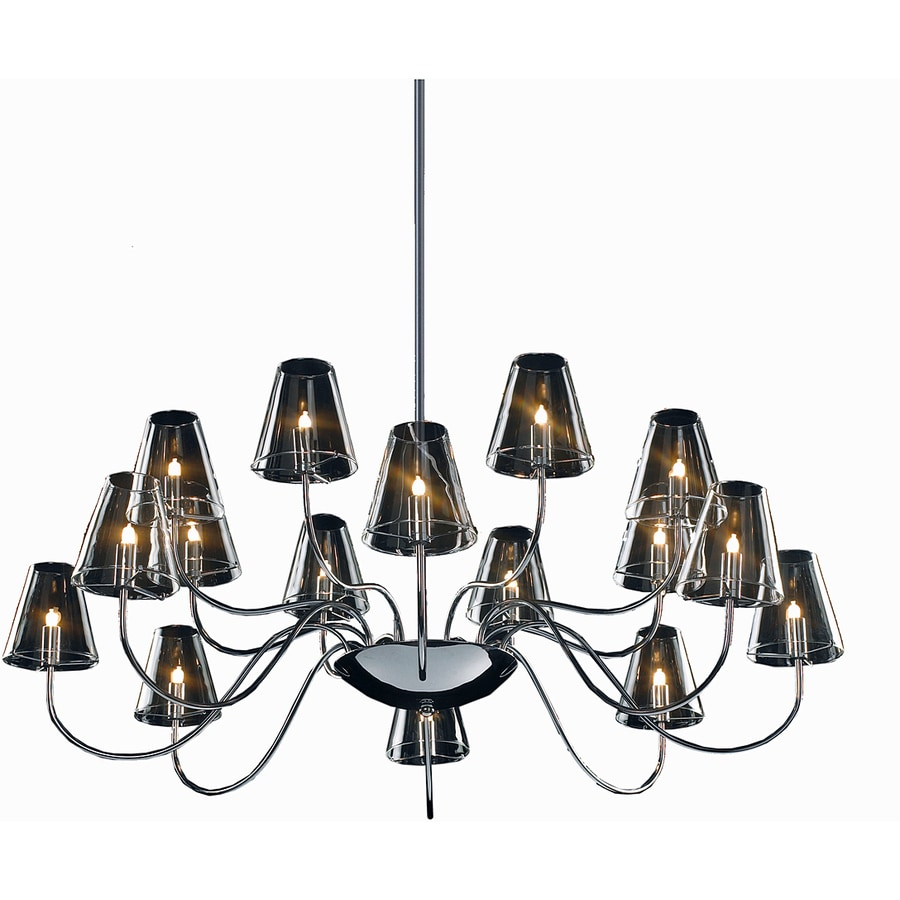 Pyramid Creations Chic 39.5-in 16-Light Polished Chrome Clear Glass Chandelier