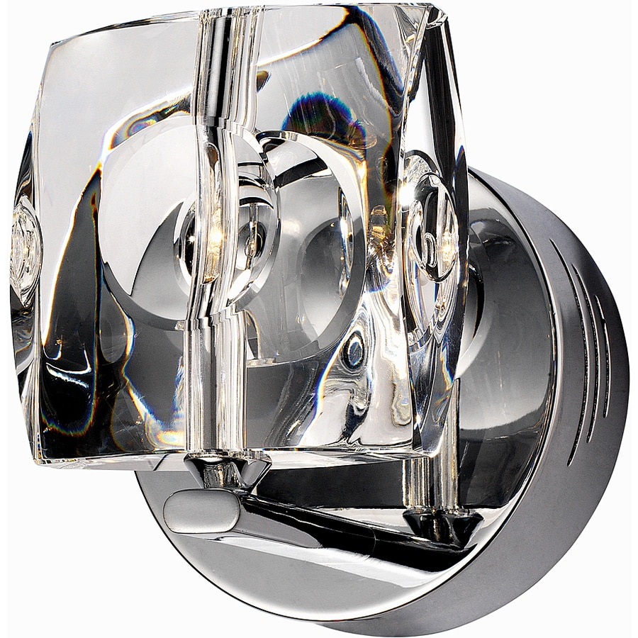 Pyramid Creations Neo 5-in W 1-Light Polished Chrome Arm Hardwired Wall Sconce