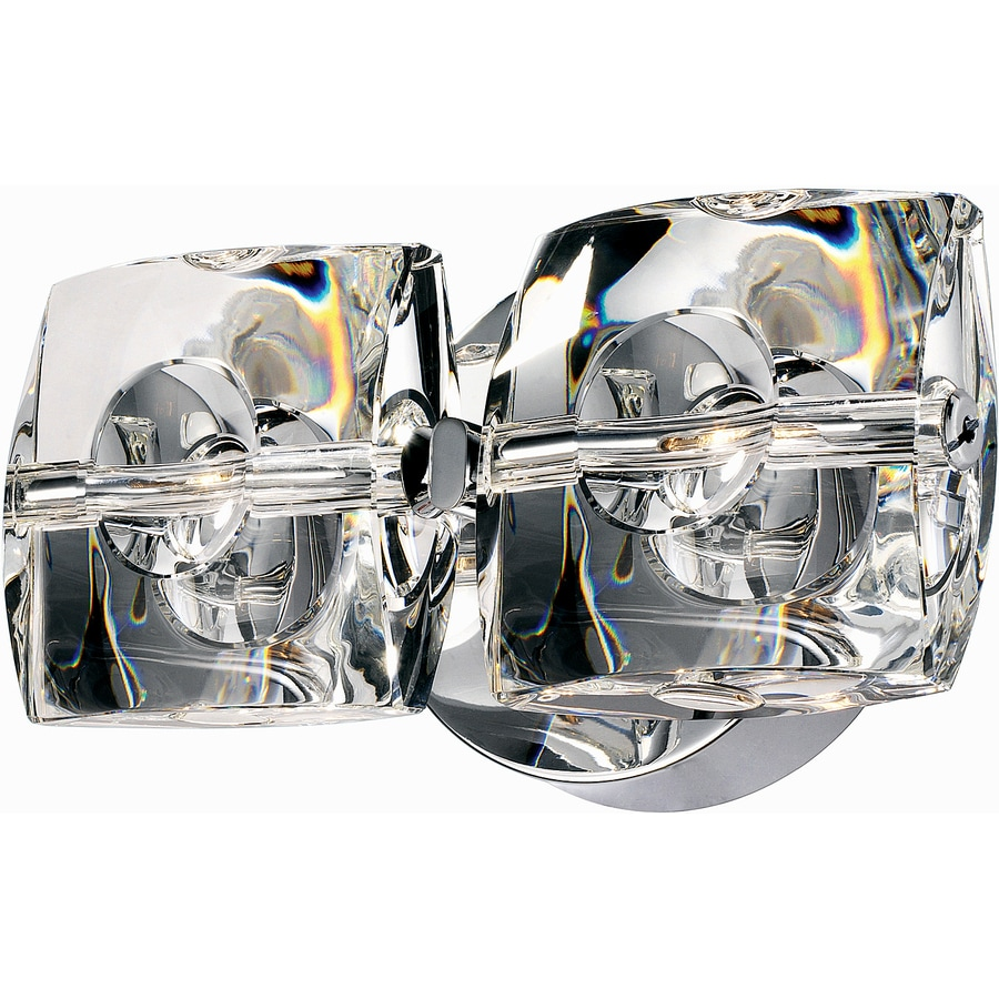 Pyramid Creations Neo 9-in W 2-Light Polished Chrome Arm Wall Sconce