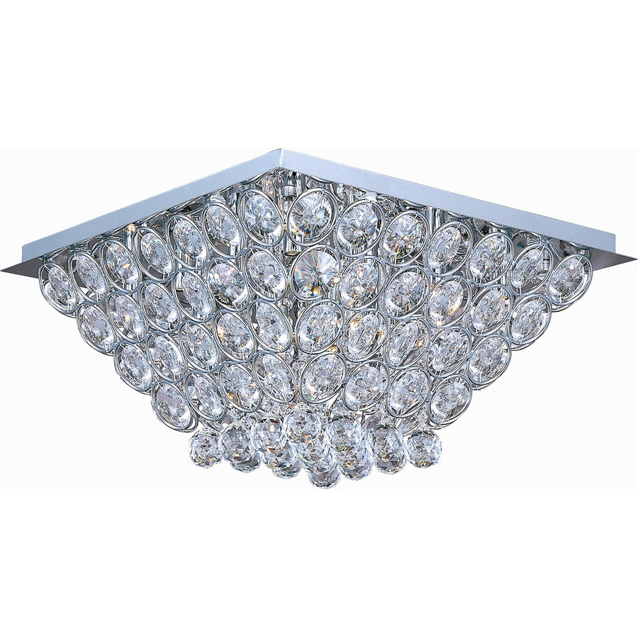 Pyramid Creations 20-in W Polished Chrome Standard Flush Mount Light