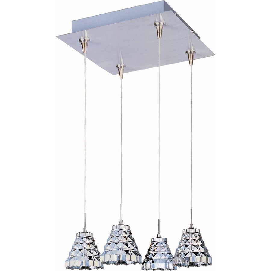 Pyramid Creations Minx 11-in Satin Nickel Mini Clear Glass Pendant