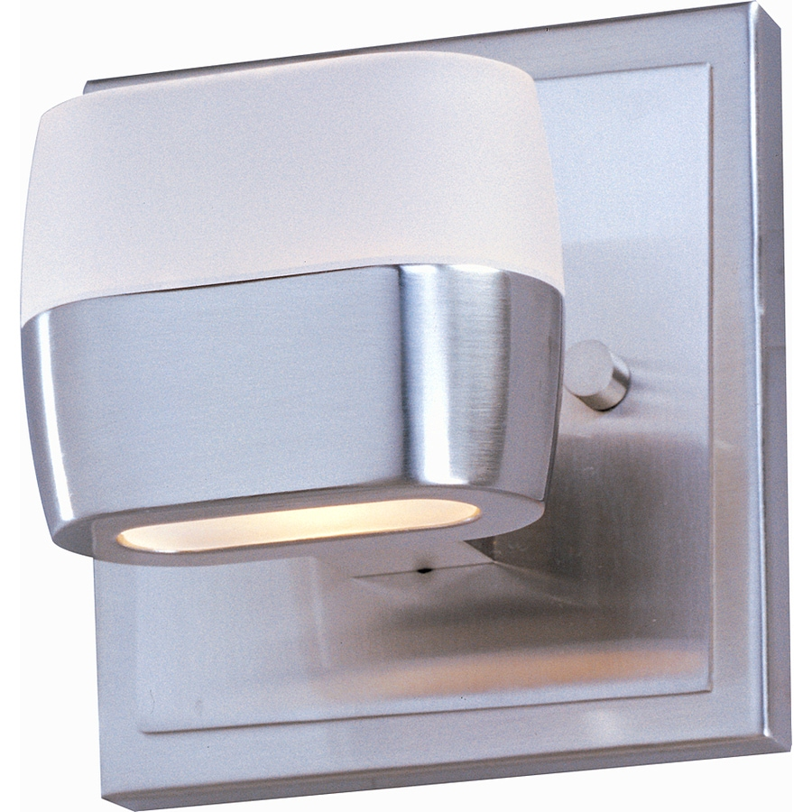 Pyramid Creations Ellipse 5-in W 1-Light Satin Nickel Arm Wall Sconce