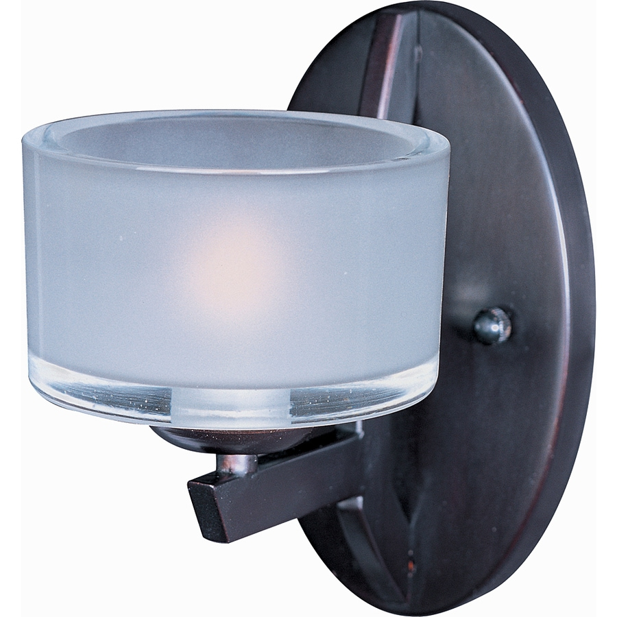 Pyramid Creations Vortex 5-in W 1-Light Oil Rubbed Bronze Arm Hardwired Wall Sconce