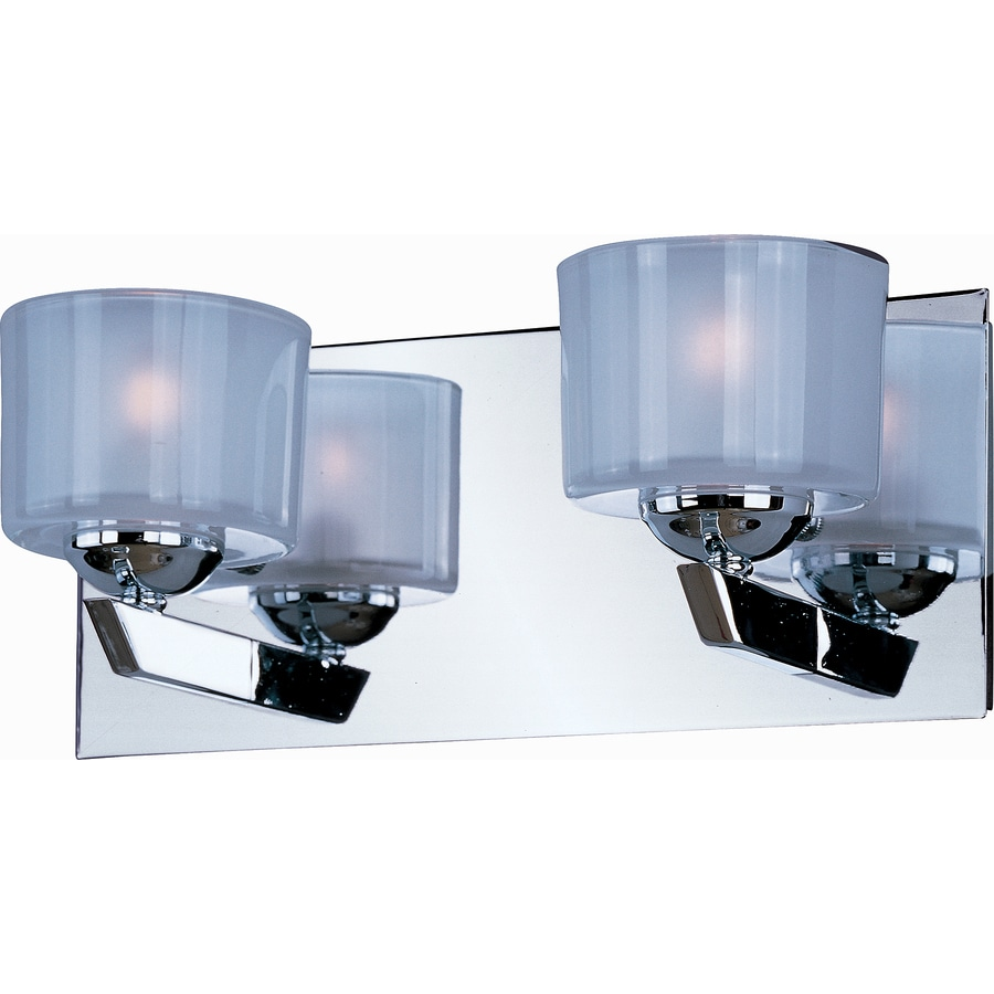 Pyramid Creations Vortex 2-Light 5-in Polished Chrome Cylinder Vanity Light