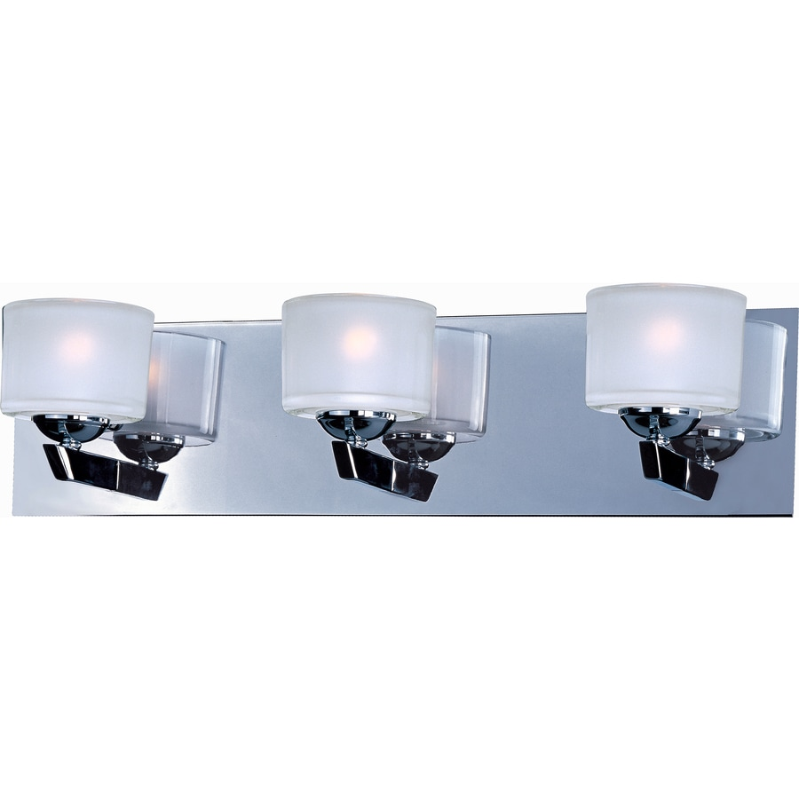 Pyramid Creations Vortex 3-Light 5-in Polished Chrome Cylinder Vanity Light