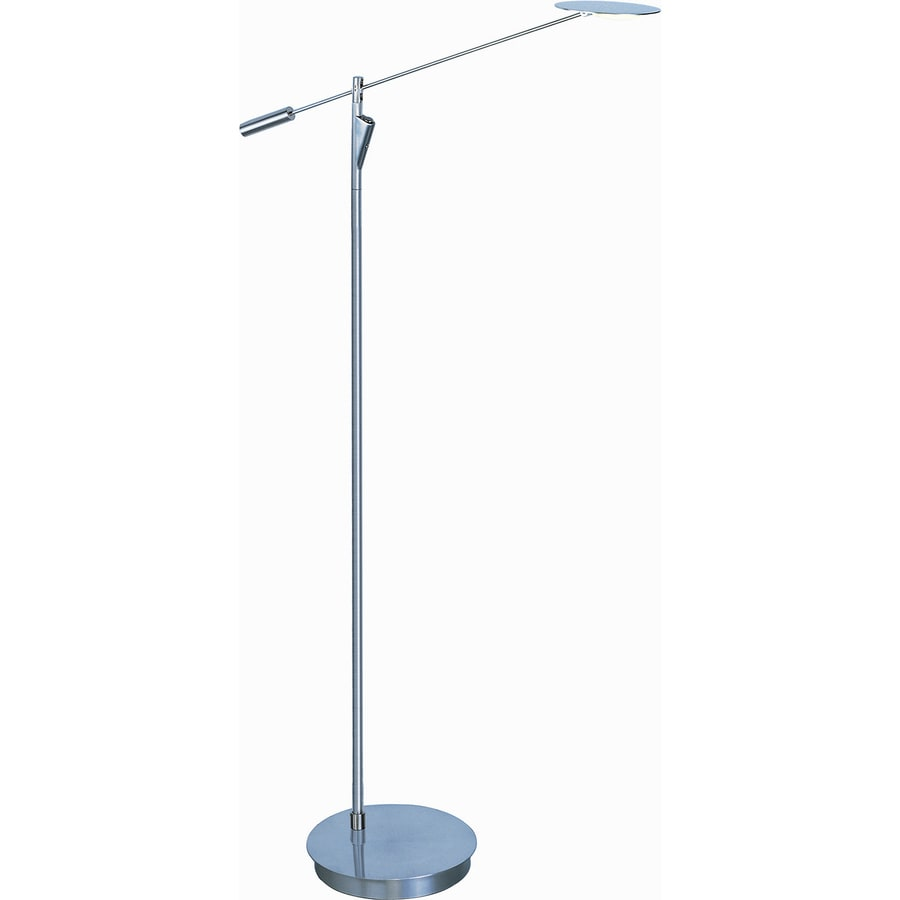 Pyramid Creations 58-in Satin Nickel Integrated Torchiere Floor Lamp