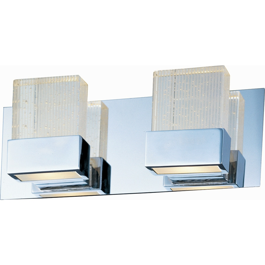 Pyramid Creations Fizz 2-Light 6-in Polished Chrome Vanity Light