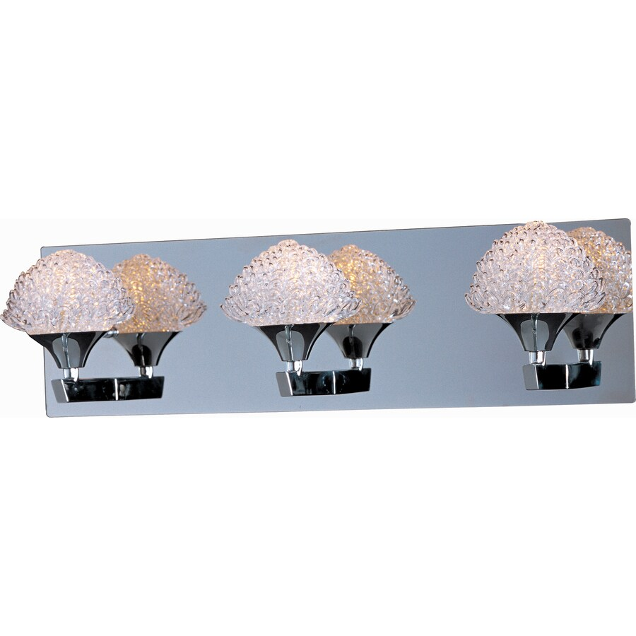 Pyramid Creations Blossom 3-Light Polished Chrome Dome Vanity Light