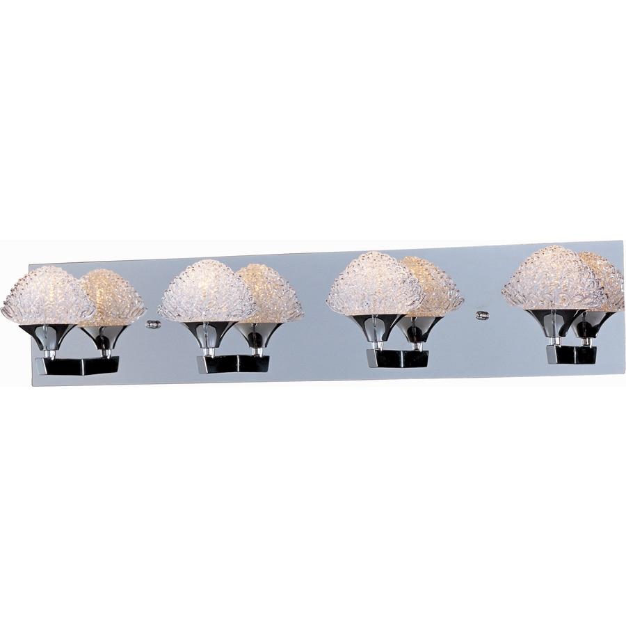 Pyramid Creations Blossom 4-Light Polished Chrome Dome Vanity Light