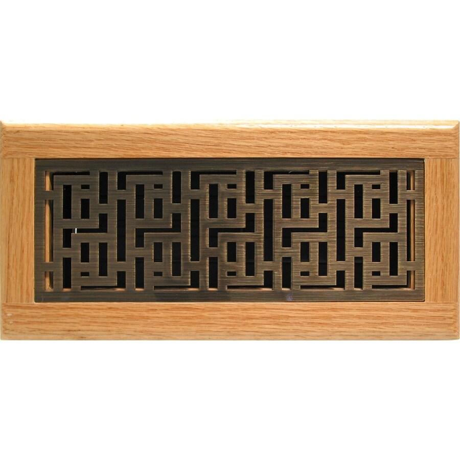 Accord Forte Antique Brass Steel Floor Register (Rough Opening: 4-in x 10-in; Actual: 5.39-in x 11.42-in)
