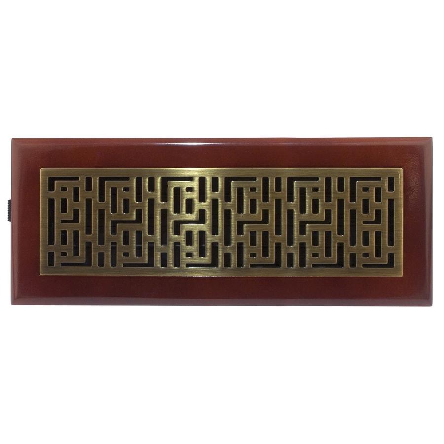 Accord Forte Antique Brass Steel Floor Register (Rough Opening: 12-in x 4-in; Actual: 13.42-in x 5.39-in)