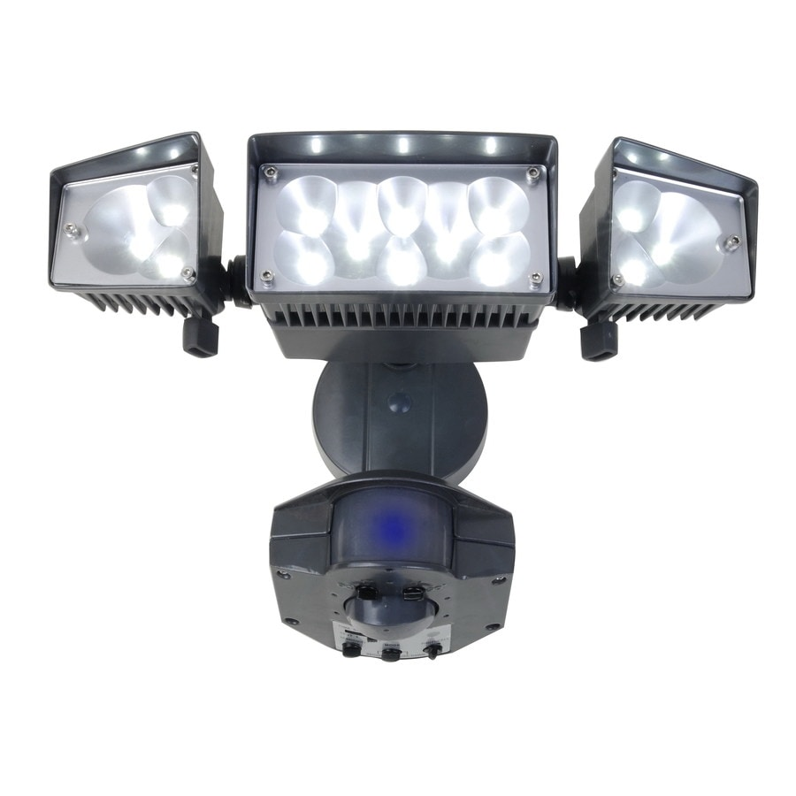 Shop Utilitech 360 Degree 3 Head LED Motion Activated