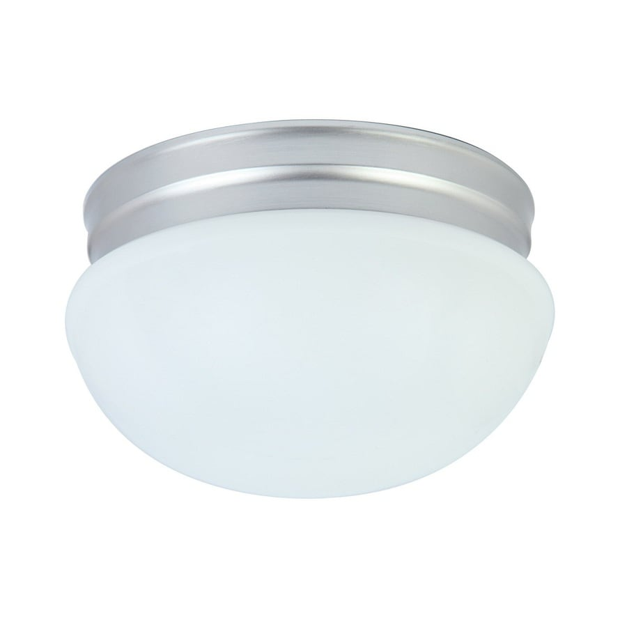 Project Source 9.25-in W Brushed Nickel LED Flush Mount Light