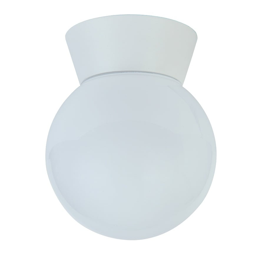 Project Source 5.98-in W Matte White Integrated Flush Mount Light