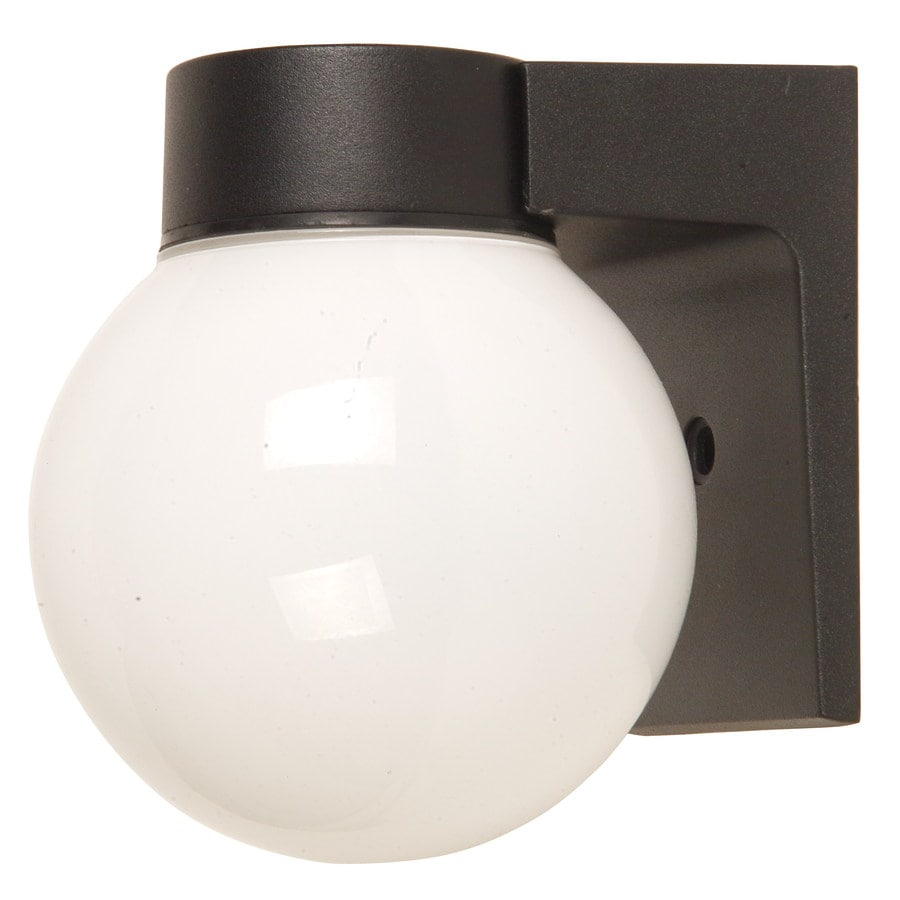 Portfolio 7.17-in H Black Outdoor Wall Light