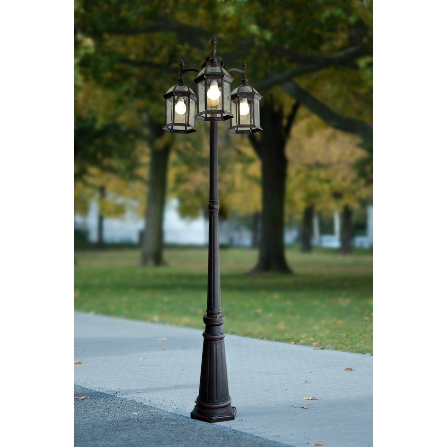 Outside Lights On Pole: Outdoor Lamp Post Light Pole Fixture Garden Yard Driveway