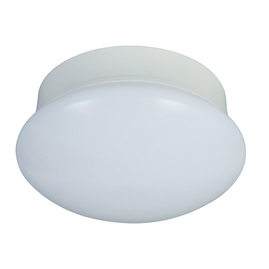 Shop Utilitech Pro 6.97-in W White LED Flush Mount Light